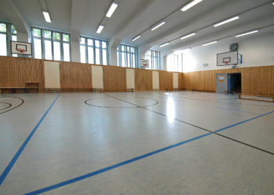 basketball goals, sporthalle